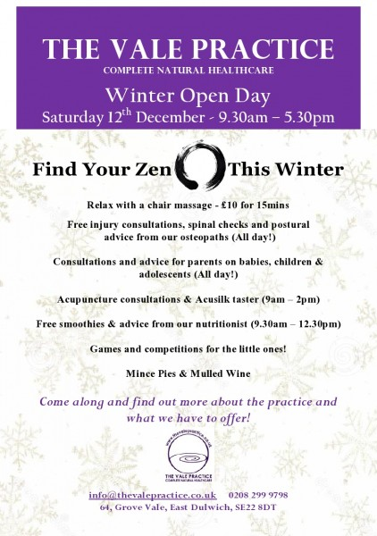 Open day December 2015 Flyer JPG